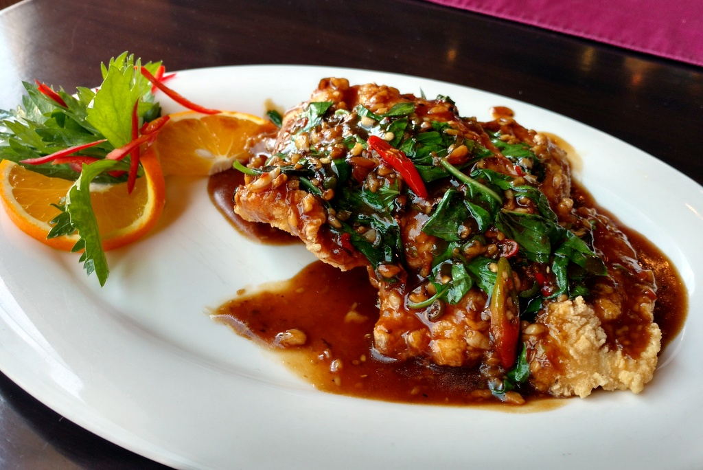 Thai fried fish recipe with chili sauce for Sauce for fried fish