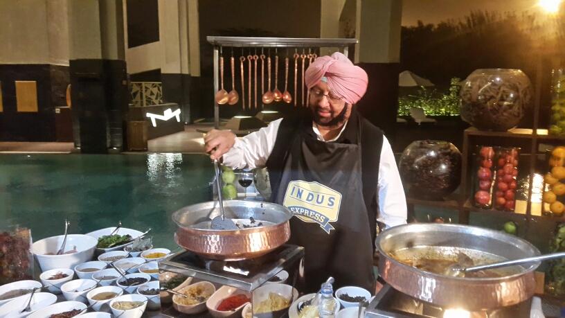 Image result for caption amrinder singh eating